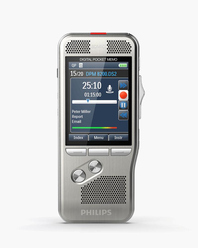 Digitales Diktiergerät Philips PocketMemo DPM8200 Lieferumfang