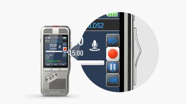 Digitales Diktiergerät Philips PocketMemo DPM8100 Lieferumfang
