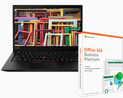 ThinkPad T490s + Office 365 Software Bundle Paket im Angebot