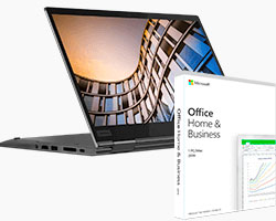 ThinkPad X1 Yoga + Office Home & Business 2019 Software Bundle Paket im Angebot