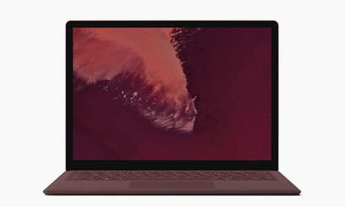 Microsoft Surface Laptop 2 Bordeauxrot