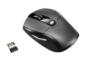 Fujitsu WI610 kabellose Laser Maus 6 Tasten | Schwarz