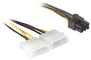 DeLOCK Netzkabel 6-Pin PCIe > 4-Pin