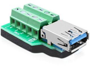 DeLOCK USB 3.0 Type-A female > Terminal Block 10 pin