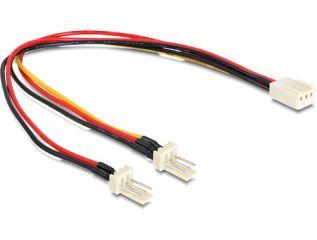 DeLOCK Molex 3 Pin > 2 x Molex 3 Pin (Lüfter) 22 cm