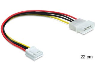 DeLOCK Cable Power 4 pin male > 4 pin floppy female