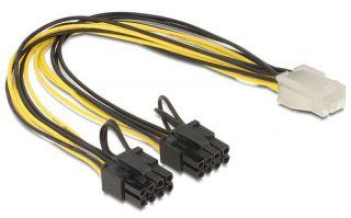 DeLOCK Netzkabel 6-Pin PCIe Power > 2 x 8-Pin