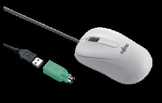 Fujitsu M530 Laser PS/2 & USB Maus | WEISS