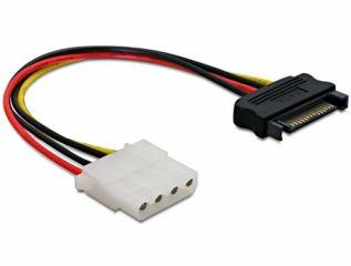 DeLOCK Netzkabel SATA 15-Pin plug > 4-Pin