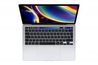 Apple MacBook Pro 13'' 2020 Silber Magic Keyboard