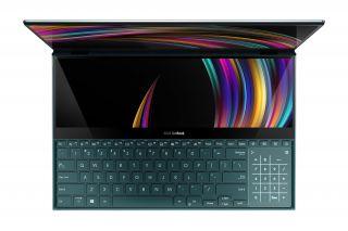 ASUS ZenBook Pro Duo UX581GV H2049R - Laptop mit zweitem Display in der Tastatur & Nummernblock TouchPad - Ansicht von oben