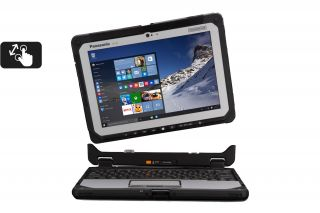 Toughbook 20 Detachable CF-20 CF-20G0205TG - Frontansicht Laptop mit abnehmbarer Tastatur