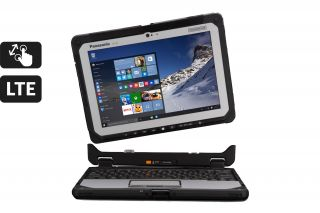 Toughbook 20 Detachable CF-20 CF-20GV001TG - Frontansicht Laptop mit abnehmbarer Tastatur