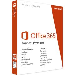 Micrososft Office 365 Business Premium, 1 User, Deutsch, German
