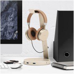 Satechi Aluminum Headphone Stand, Gold, nutzen, benutzen