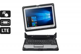 Toughbook CF-33 Detachable CF-33AEHFBTG - LAptop mit abnehmbarer Tastatur, Touch, LTE, Serial port