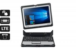 Toughbook CF-33 Detachable CF-33AEHGBTG - Laptop mit abnehmbarer Tastatur, Touchscreen, LTE, SmartCard Reader